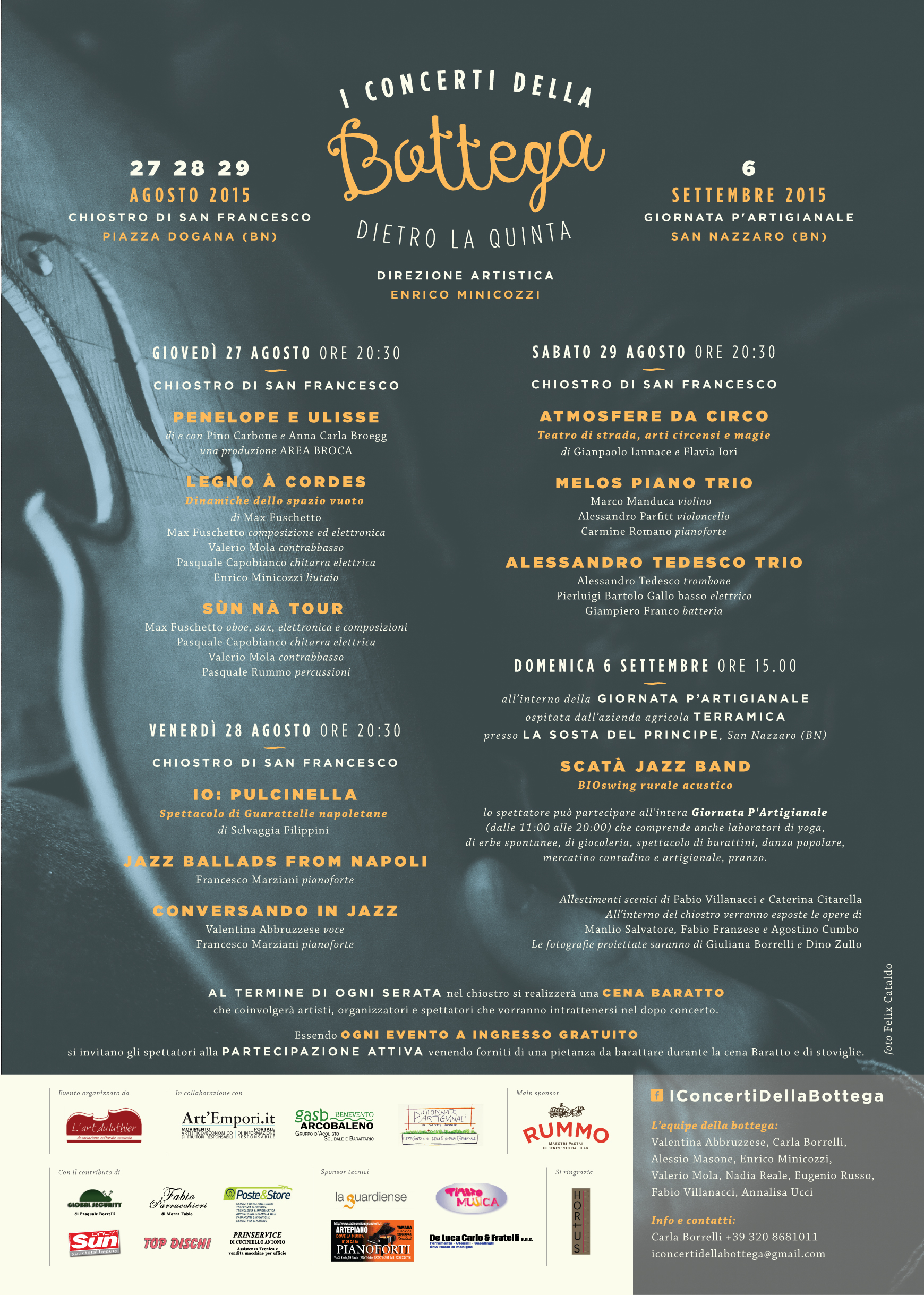 Presentato, dall'associazione 'L'Art du Luthier' la nuova edizione de 'I Concerti della Bottega'