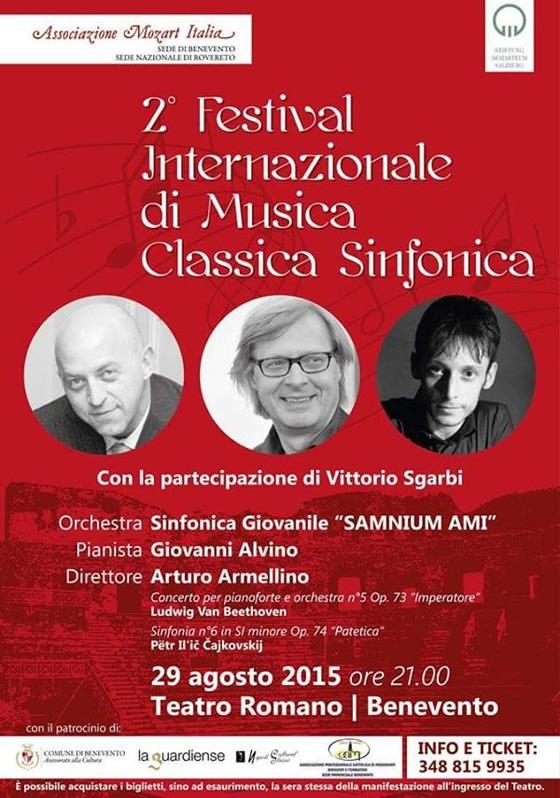 Al Teatro Romano il 'Festival Internazionale di Musica Classica Sinfonica' organizzato dall'Ami di Benevento