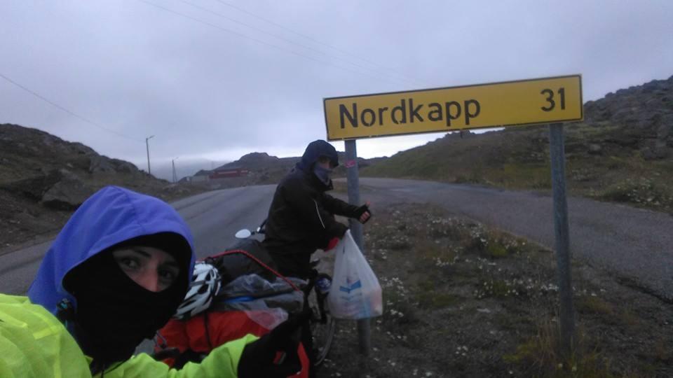 Sono arrivati a Capo Nord Giovanna Napolitano e Giuseppe Campochiaro, i ciclisti di Amorosi