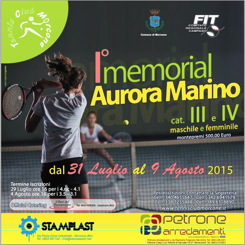 Tennis, è in pieno svolgimento la prima edizione del 'Memorial Aurora Marino'