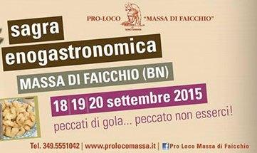 Dal 18 settembre al via la 30° edizione della 'Sagra Enogastronomica' a Massa di Faicchio