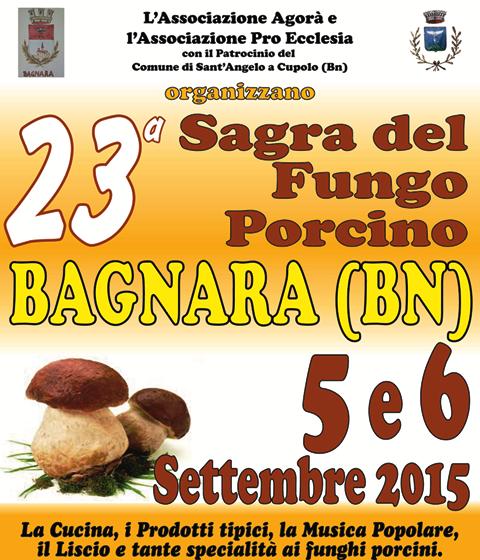 Domani, a Bagnara, il via alla 'Sagra del fungo porcino'