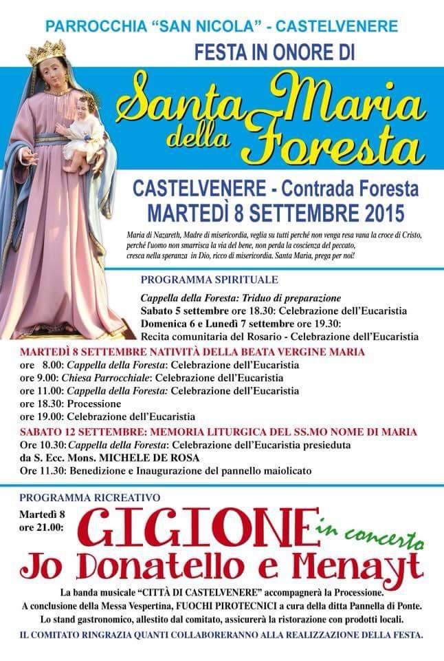 Castelvenere, il borgo festeggia la Madonna della Foresta