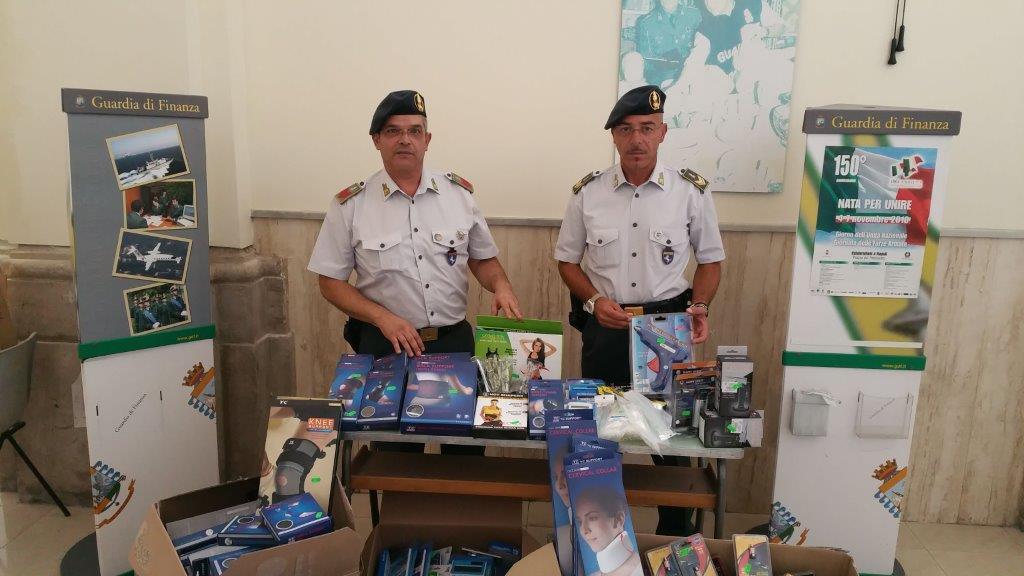 Gdf Benevento, sequestrati circa novantamila articoli di merce non conforme