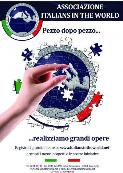 'Pezzo dopo pezzo realizziamo grandi opere', questo il motto dell'Associazione 'Italians in the World'