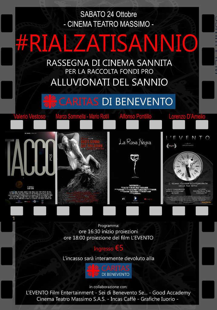 Organizzata per domani, sabato, la rassegna 'Cinema Sannita' per raccolta fondi pro alluvionati