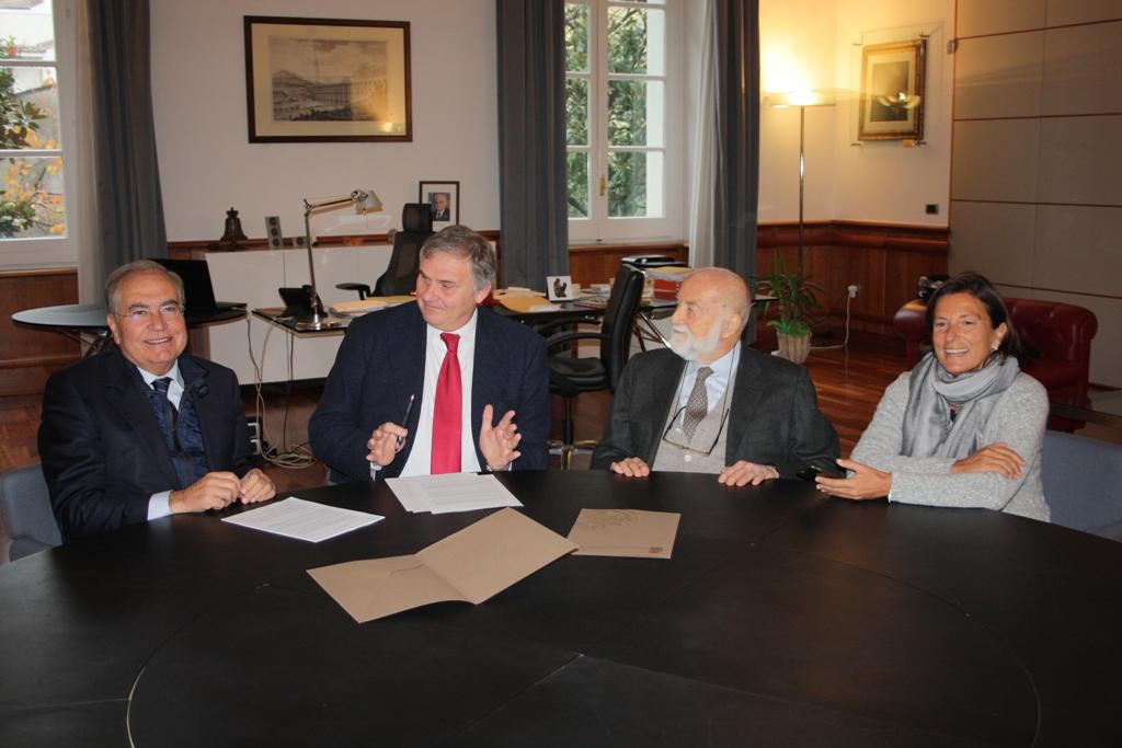 ll professore Eugenio Corti dona un suo patrimonio libraio all'Università del Sannio