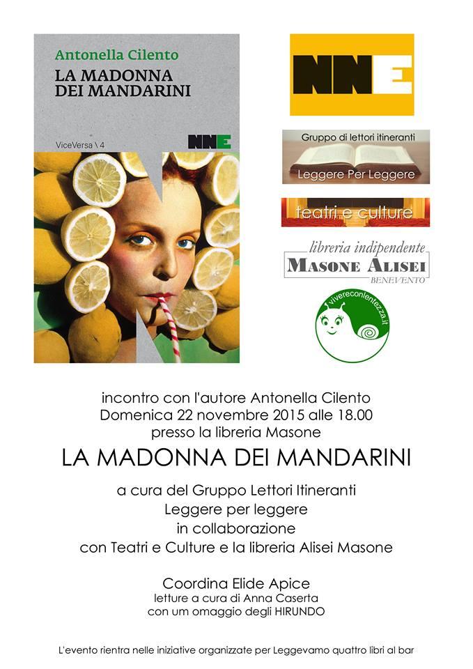Domani presentazione del libro 'La Madonna dei Mandarini' presso la libreria Masone