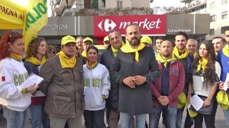 Protesta latte, presidi Coldiretti Campania presso i punti vendita Gdo