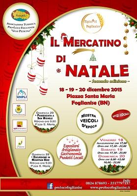 Tutto pronto per la seconda edizione di 'Tipicittà Foglianise. Il mercatino di Natale'