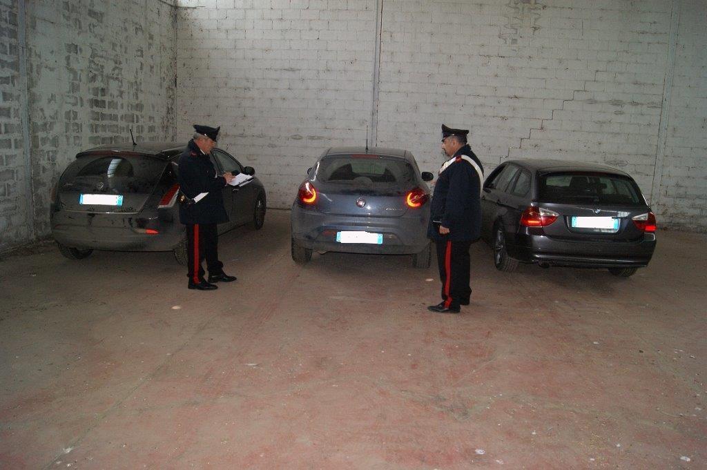 Buonalbergo, rinvenute tre auto rubate in un capannone