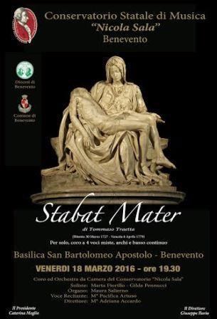 Coro ed Orchestra da camera del Conservatorio sannita per lo Stabat Mater di Tommaso Traetta