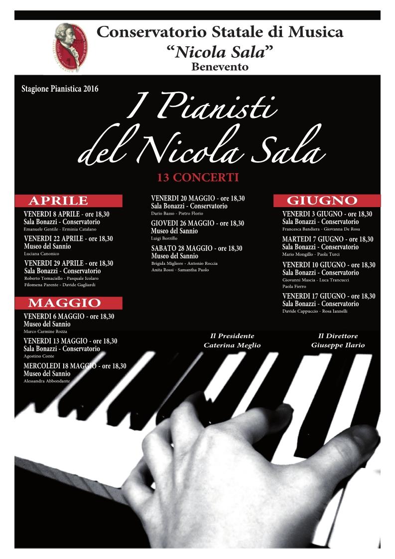 Oggi, recital di Luciana Canonico nell'ambito della Stagione Pianistica organizzata dal Conservatorio