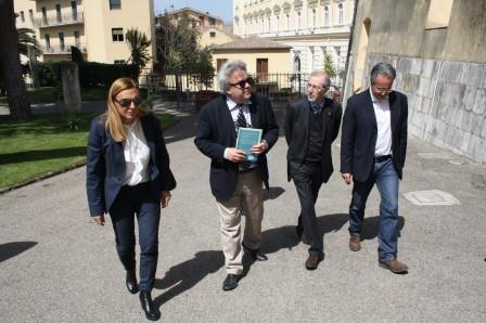 Il direttore Felicori ha visitato la Rocca dei Rettori di Benevento