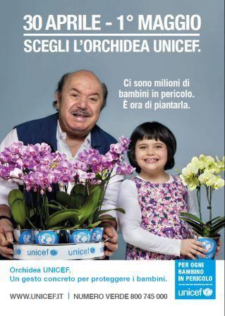 Da domani torna nelle piazze l'iniziativa Unicef dell'Orchidea a tutela dei bambini
