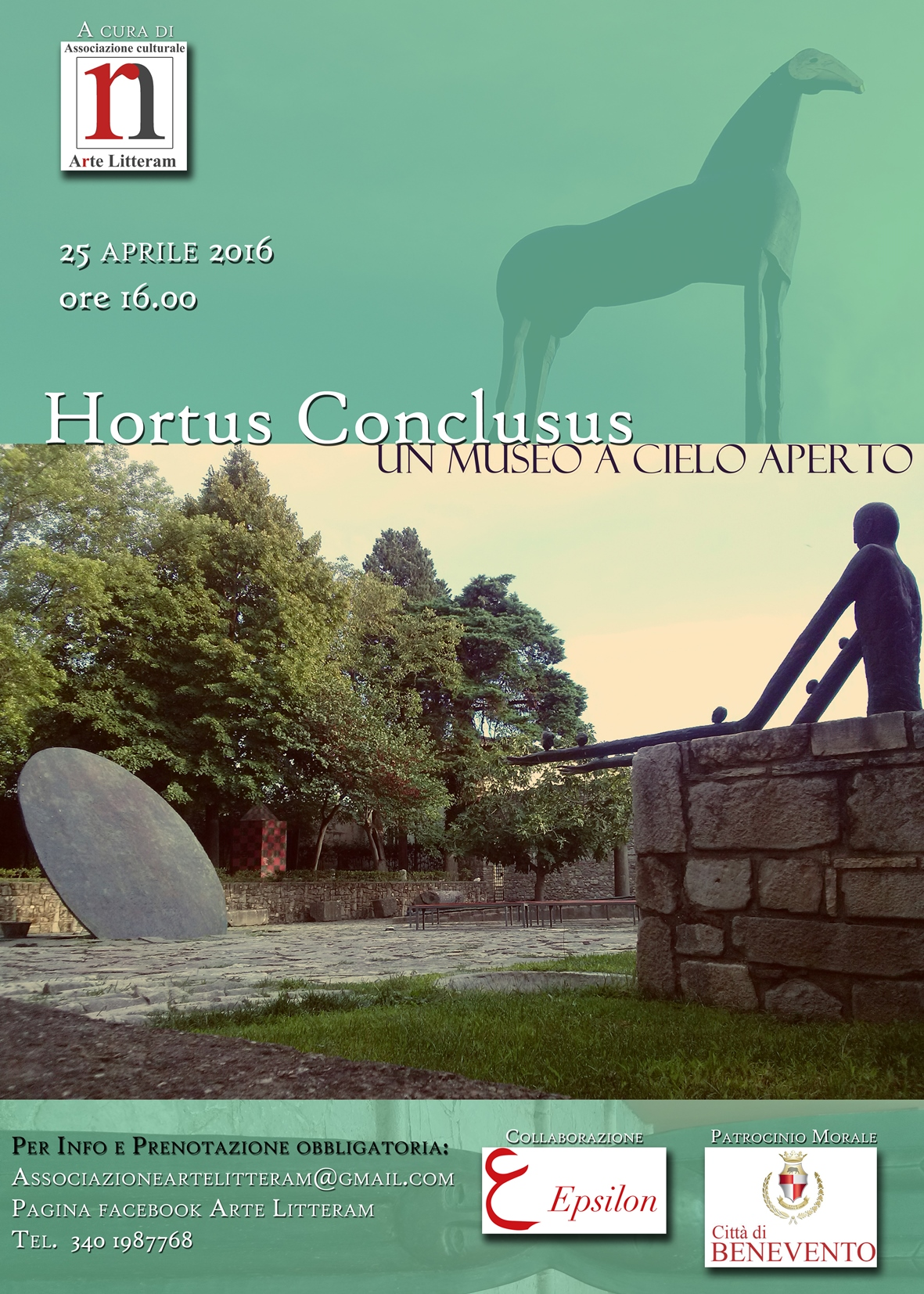 Il 25 aprile una passeggiata alla scoperta dell'Hortus Conclusus di Benevento