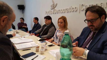 Riunione Fondi Eropei presso la sede Pd della Campania