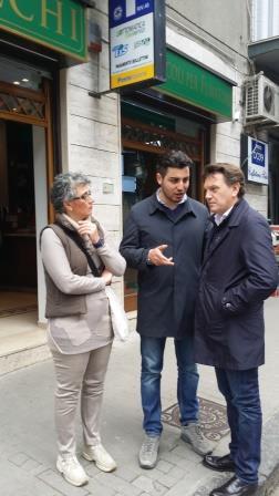 Il candidato sindaco Del Vecchio ha incontrato i commercianti di via Nicola Sala