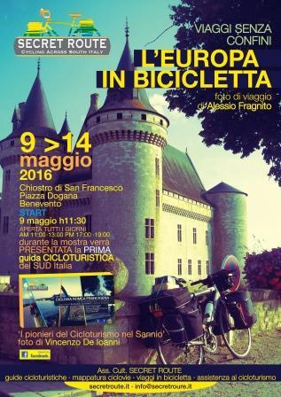 Benevento, mostra fotografica 'Europa in bicicletta' e presentazione guida cicloturistica sulla via Romea Francigena
