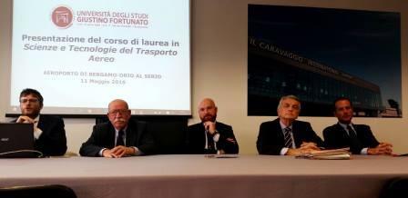 Unifortunato, presentato corso di Laurea in Scienze e Tecnologie del Trasporto Aereo a Bergamo