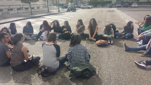 Protesta dell'Unione degli Studenti di Benevento contro le prove Invalsi