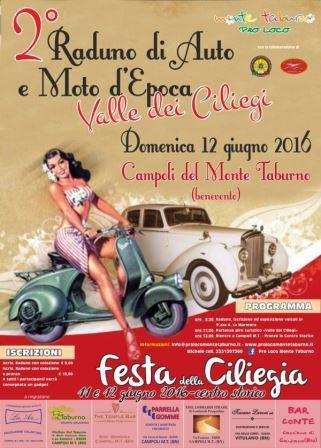 Campoli Monte Taburno, raduno d'auto e moto d'epoca 'Valle dei Ciliegi'