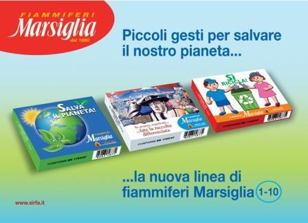 Il fiammifero Marsiglia, famoso in tutta Italia, lancia una campagna a difesa dell'ambiente