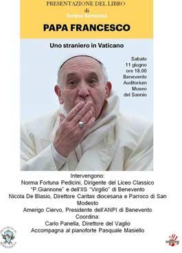 Domani, al Museo del Sannio, la presentazione del libro di Teresa Simeone 'Papa Francesco-uno straniero in Vaticano'