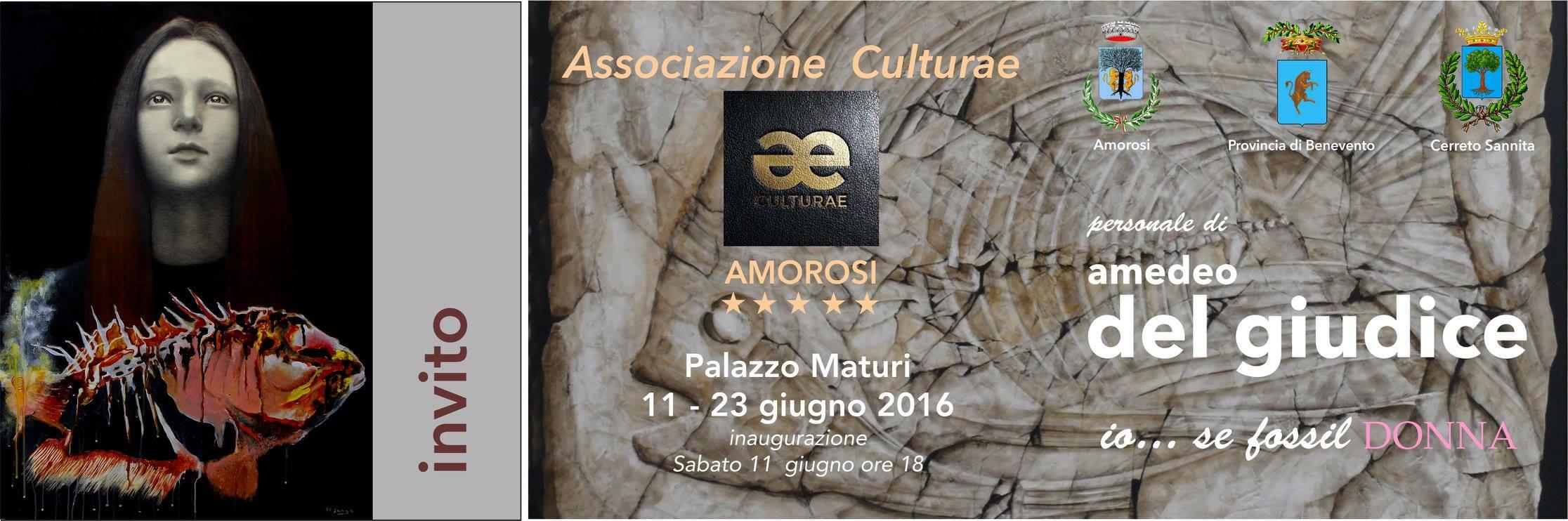 Amorosi, 'io…se fossil DONNA', a Palazzo Maturi il vernissage della Mostra di Del Giudice