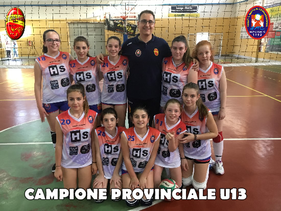 Volley S. Maria di Costantinipoli Accademia conquista il titolo di campione provinciale Under 13