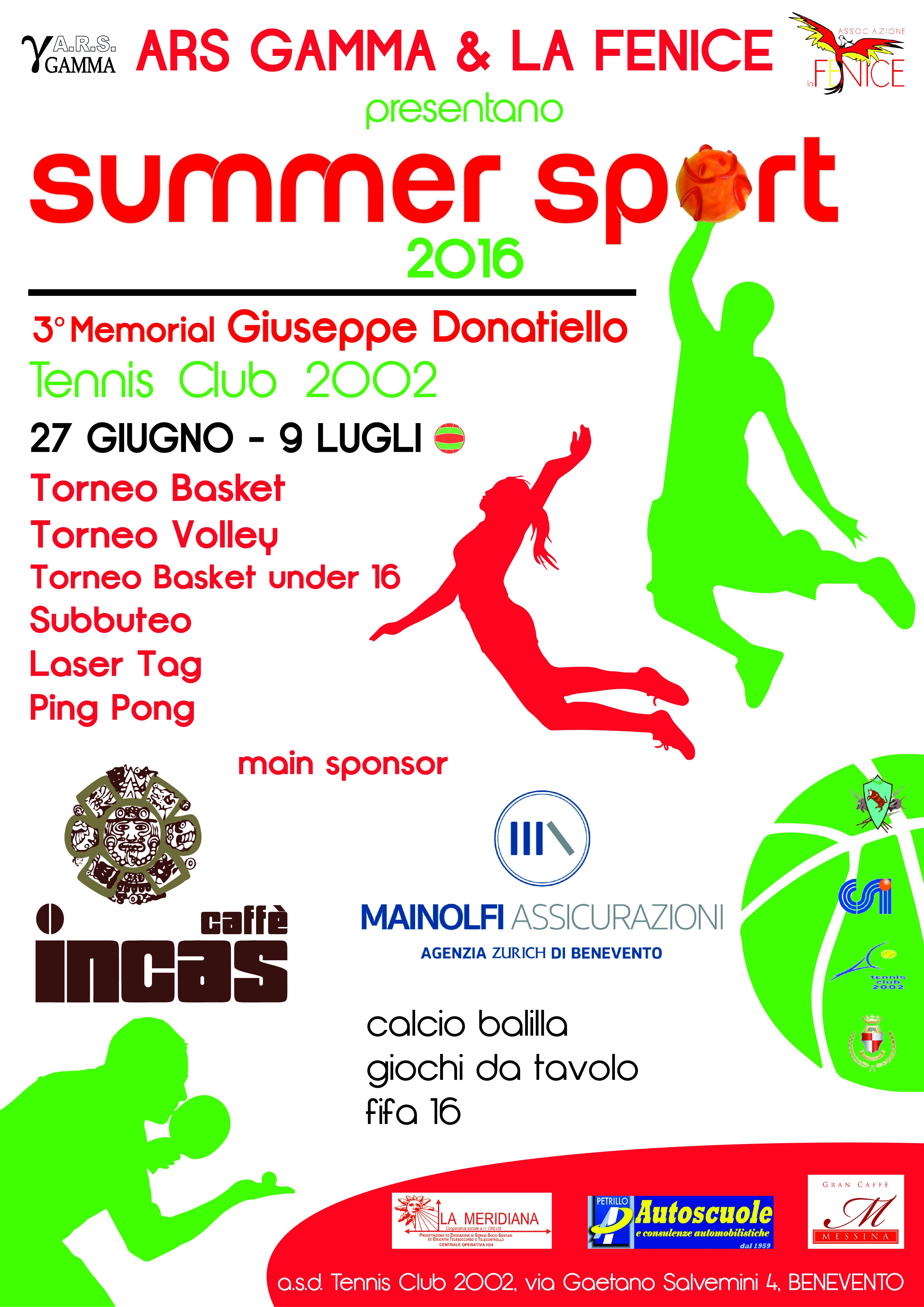 Manca poco all'inizio della manifestazione sportiva 'Summer Sport'