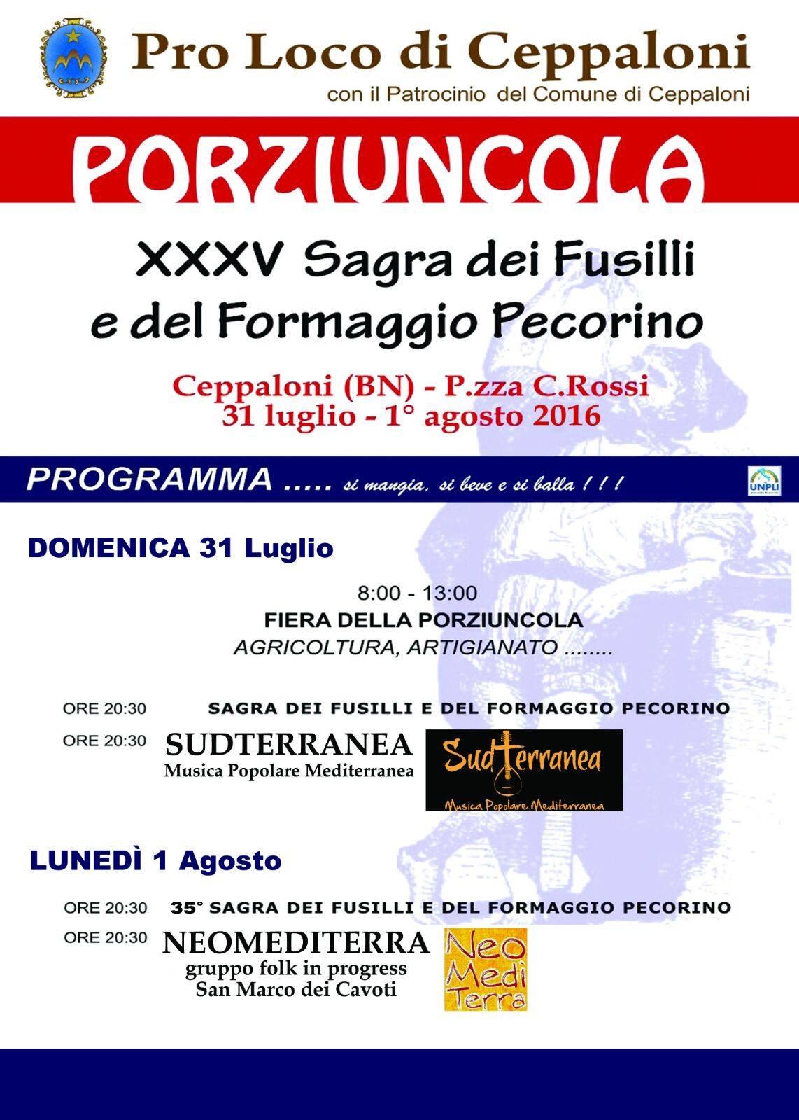 Ceppaloni, torna, il 31 luglio, l'imperdibile appuntamento con la Sagra della Porziuncola