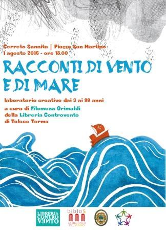 Racconti di Vento e di Mare', appuntamento a Cerreto per tutti coloro che amano i libri