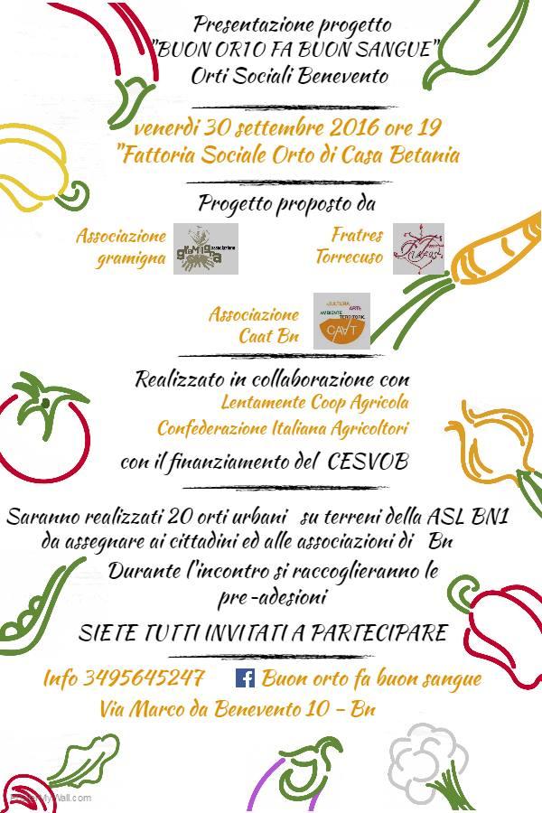 A Benevento parte il progetto degli 'Orti sociali di Comunità'