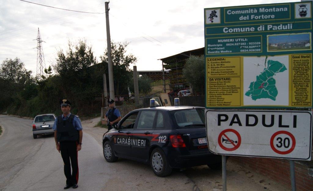 Paduli, individuato e sequestrato dai carabinieri garage abusivo