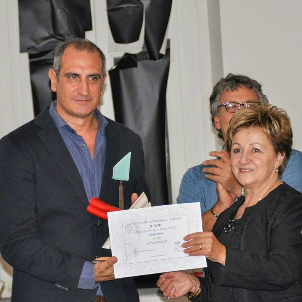 L'artista Alessandro Rillo pluri premiato  alla Biennale di Arte Contemporanea di Salerno