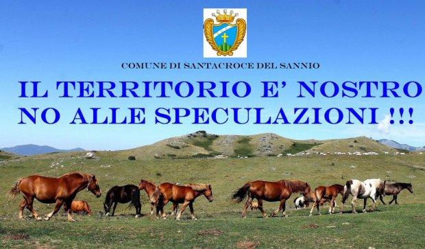 'No alle speculazioni', manifestazione a Santa Croce del Sannio