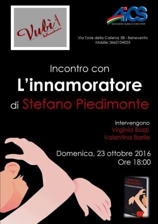 Al 'Vubi' di Benevento incontro con l'autore de 'L'innamoratore', Stefano Piedimonte