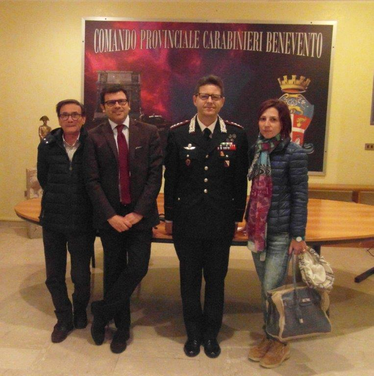 Incontro tra Associazione Libera e Carabinieri; attivato spotrello anitiraket ed antiusura
