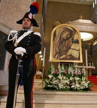 I Carabinieri elebrano oggi la patrona dell'Arma, la 'Virgo Fidelis', presso la chiesa di Santa Sofia in Benevento