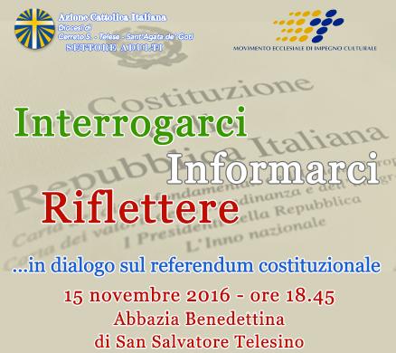 San Salvatore Telesino, incontro di approfondimentosul referendum con il costituzionalista Umberto Ronga