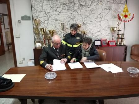 Siglato protocollo intesa Vigili del Fuoco e Automobil Club Benevento