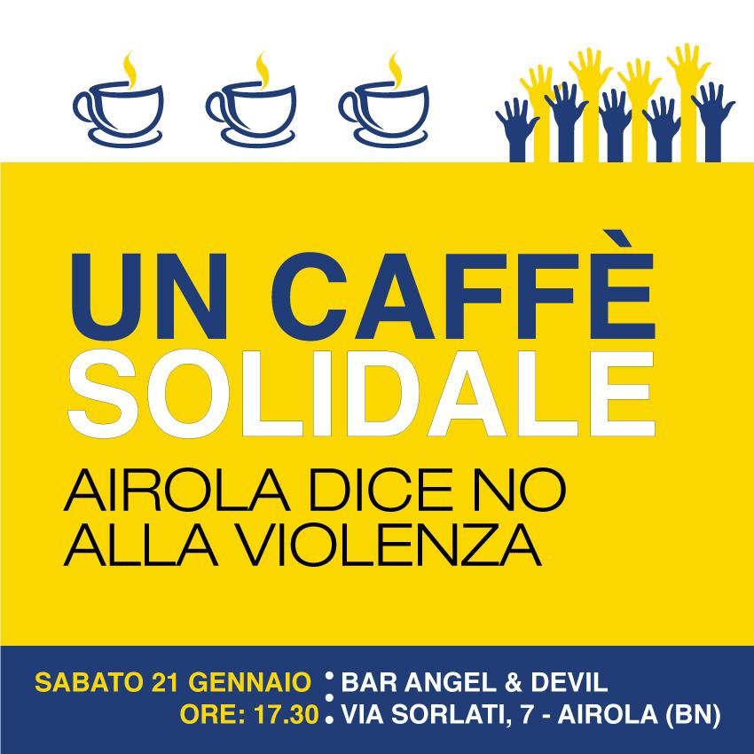 """""""Un caffè solidale"""", Airola dice no alla violenza con la solidarietà"""