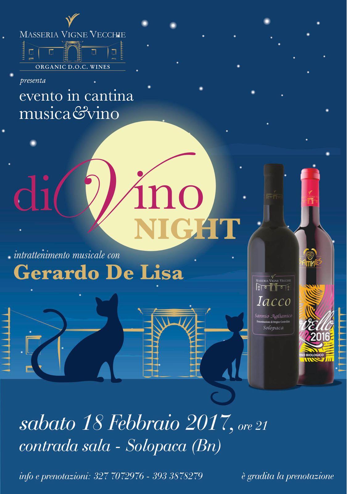 A Masseria Vigne Vecchie di Solopaca c'è 'diVino night'