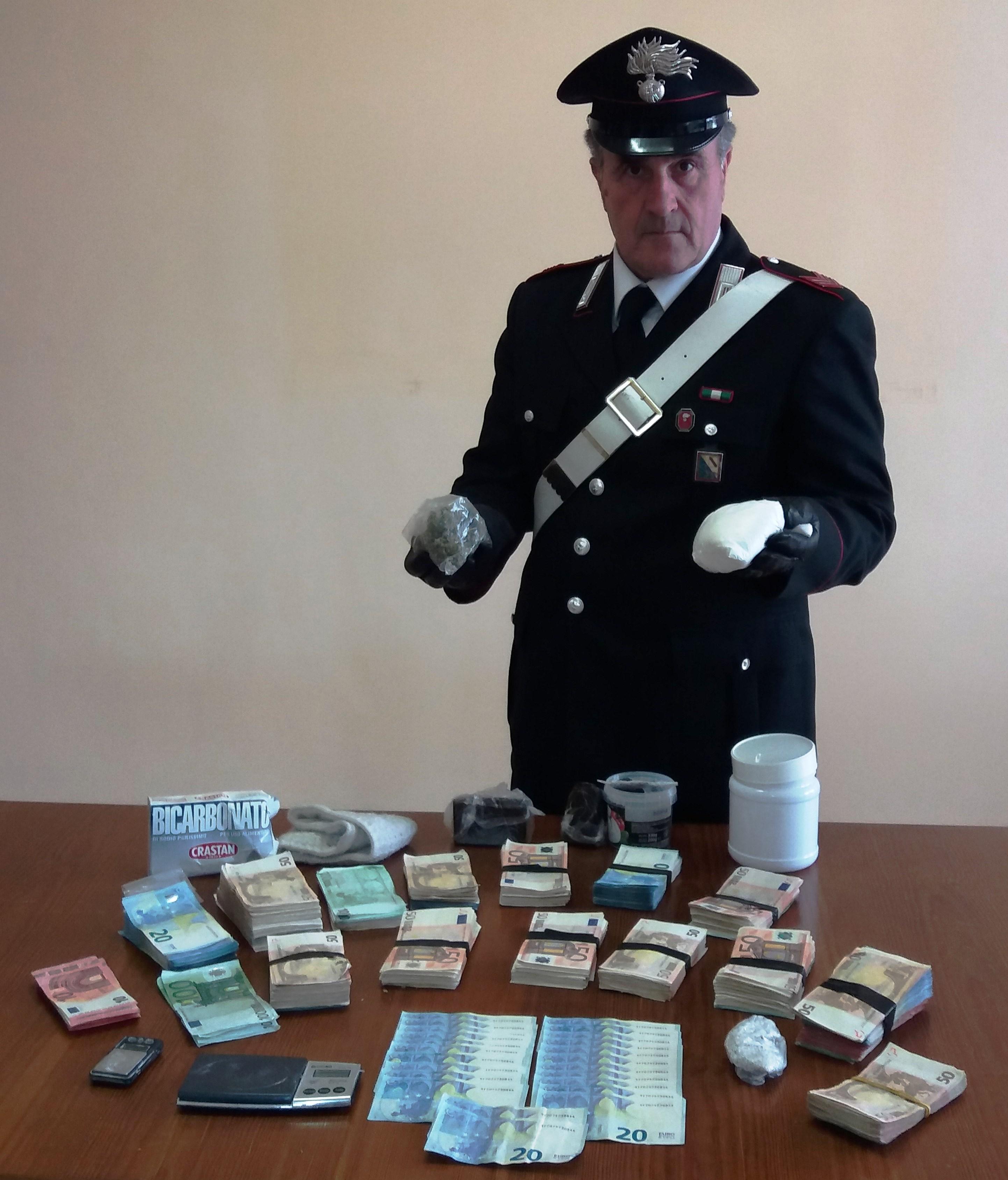 Arrestato 30enne beneventano corriere della droga. Occultava in casa oltre 67mila euro
