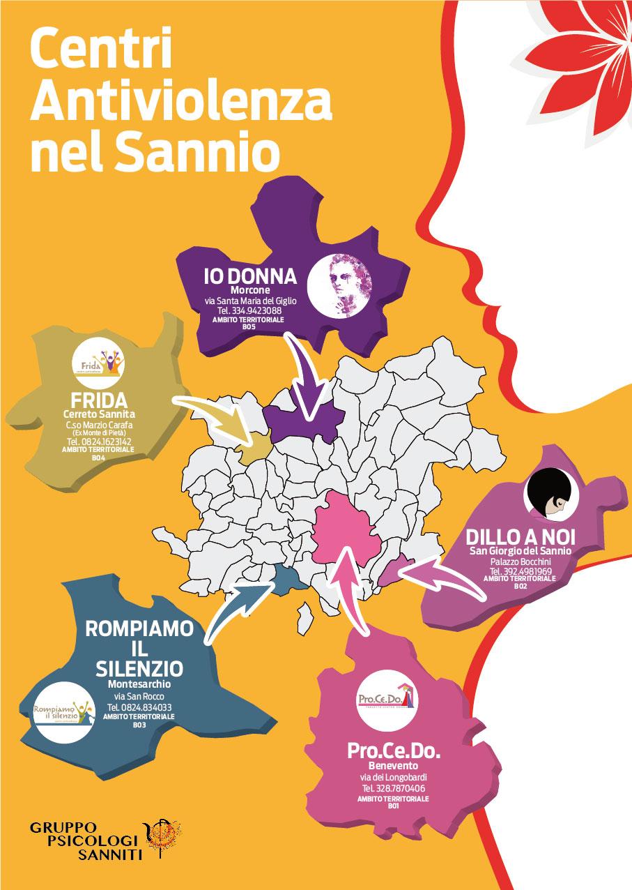 Da oggi attivi nel Sannio i centri antiviolenza