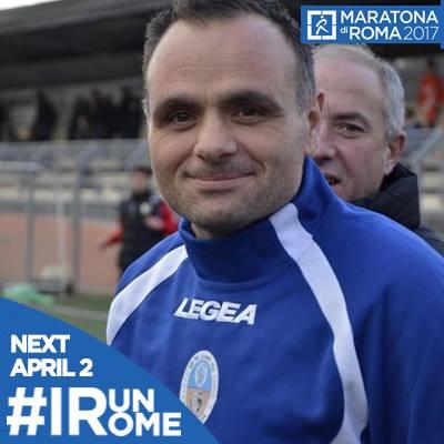 Domenico Fusco alla maratona di Roma