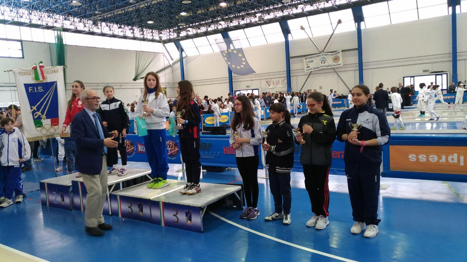 Successo di Ilaria Vitale dell'Accademia Beneventana di Scherma al Gran Premio Giovanissimi Interregionale