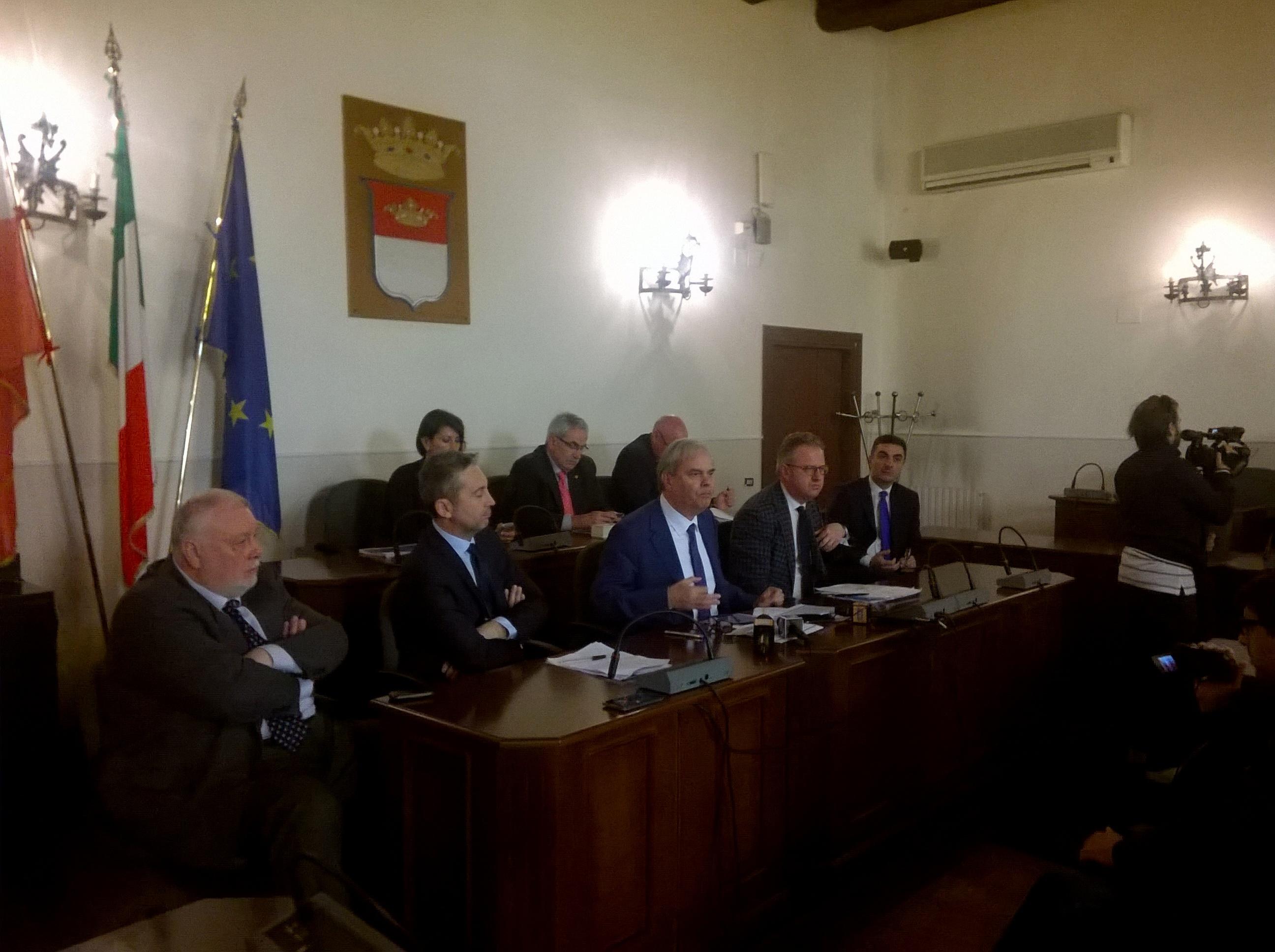 Alla Rocca riunione dei presidenti Province di Campania, Basilicata e Molise