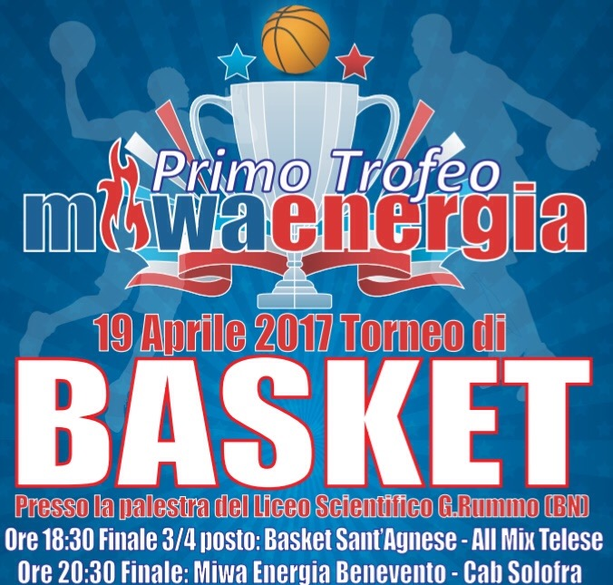 Basket, domani le finali del primo torneo Miwa Energia